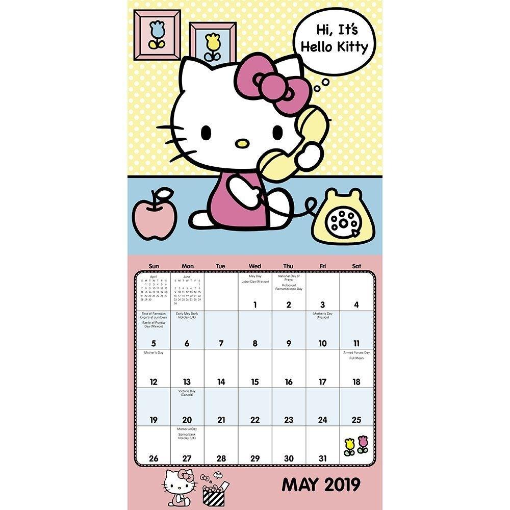 Hello Kitty Mini Wall Calendar (2019) Calendar - July 1, 2018,#Wall, #Mini, #Kitty, #Calendar