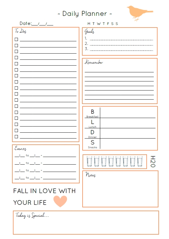 Image Result For Daily Planner Free Download | Daily Planner Printables Free, Daily Planner