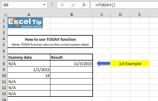 Insert Current Date Into A Cell In Excel   Microsoft Excel Tips From Excel Tip  / Excel