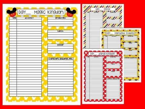 Instant Download Printable Disney Planner Agenda By Liviescloset | Disney Planner, Disney