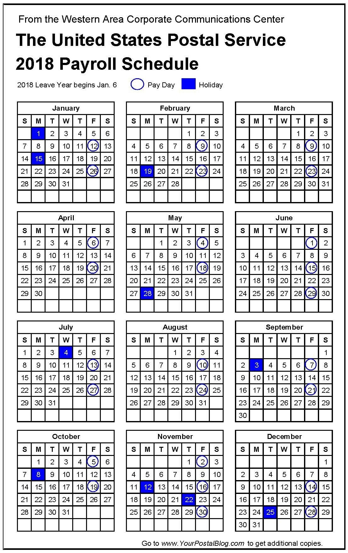 Intuit Payroll Holiday Calendar 2020 | Payroll Calendar 2020