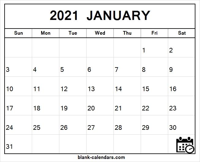 January 2021 Calendar Images | Free Printable Blank Template 2021