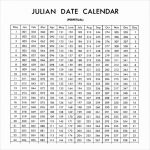 Julian Calendar For Non Leap Year