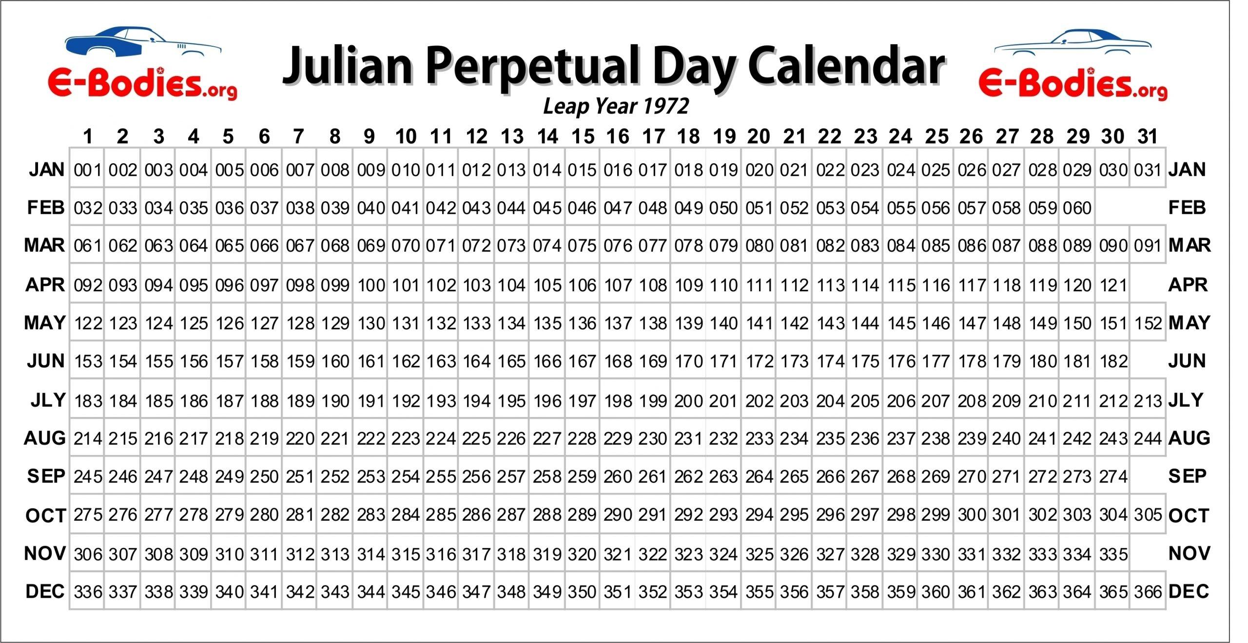 Julian Date For Leap Year - Calendar Inspiration Design