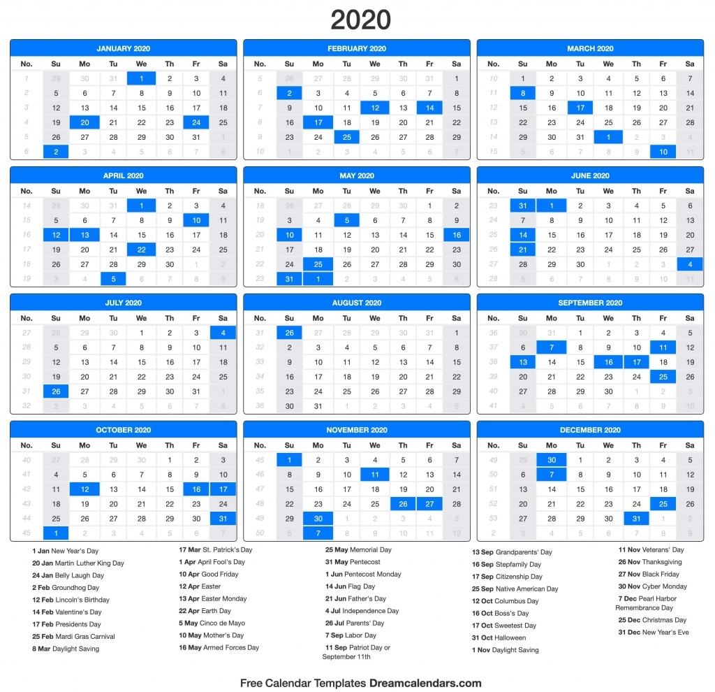 Labor Day 2020 Calendar - Calendar Template 2020