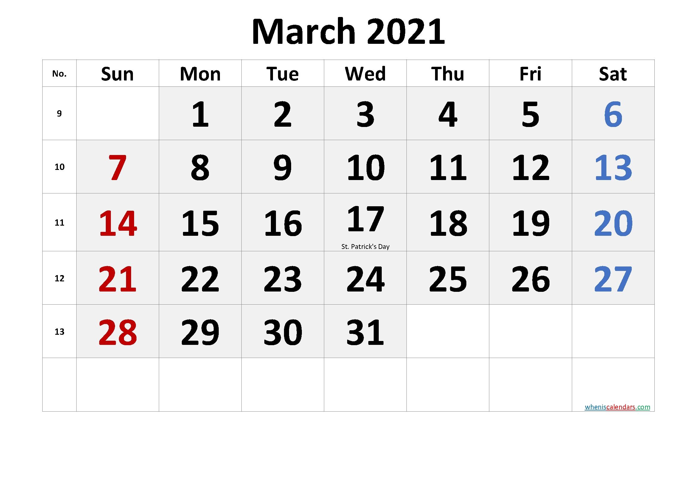 March 28 2021 Calendar | 2022 Calendar