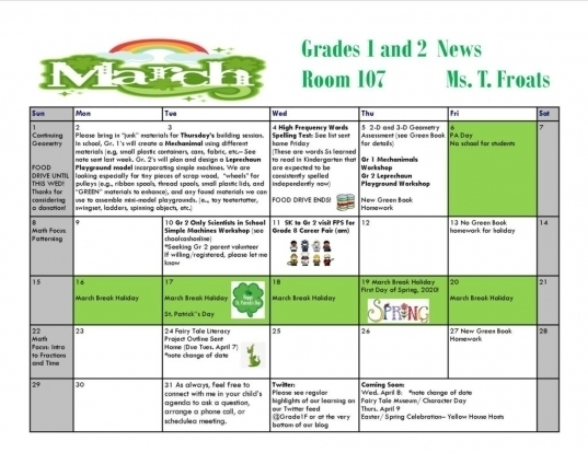 March Call Out Calender | Printable Calendar Template 2020
