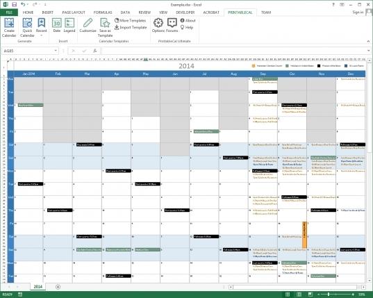 Multiple Month Calendar Template | Printable Calendar Template 2020