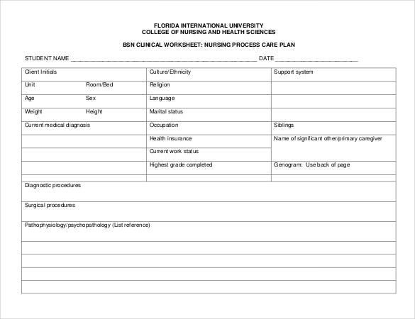 Nursing Care Plan Template - 20+ Free Word, Excel, Pdf Documents Download | Free & Premium Templates