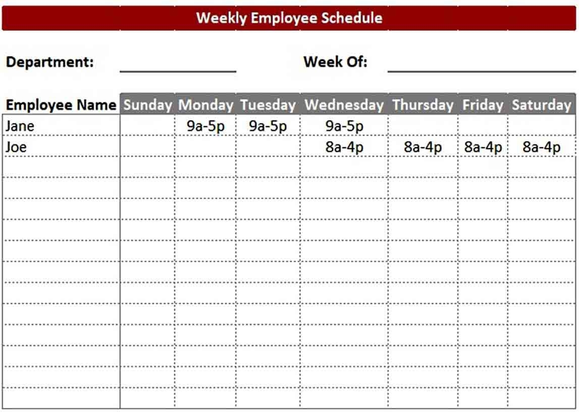 On Call Schedule Template ~ Addictionary