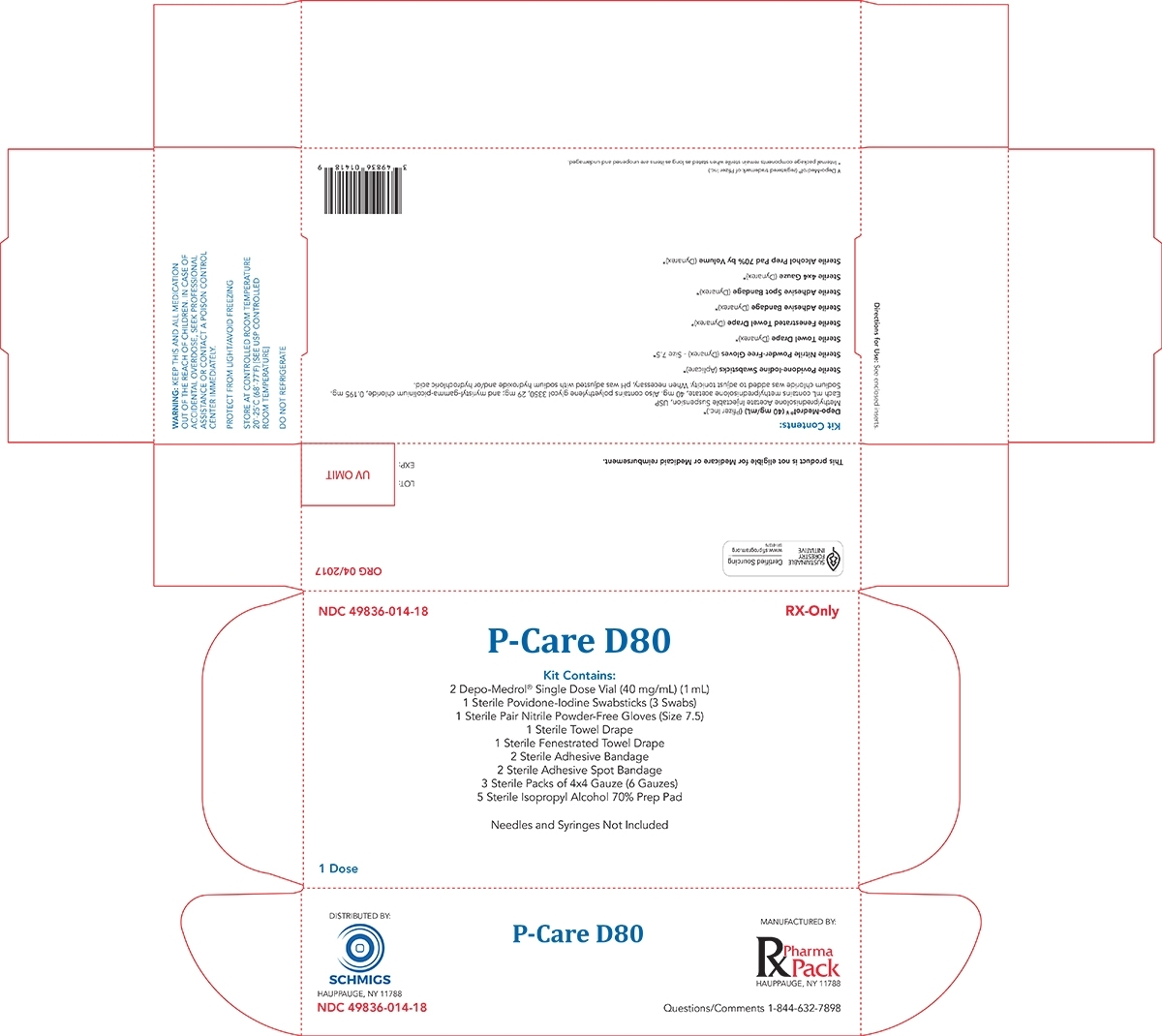 P-Care D80 (Rx Pharma-Pack, Inc.): Fda Package Insert, Page 3