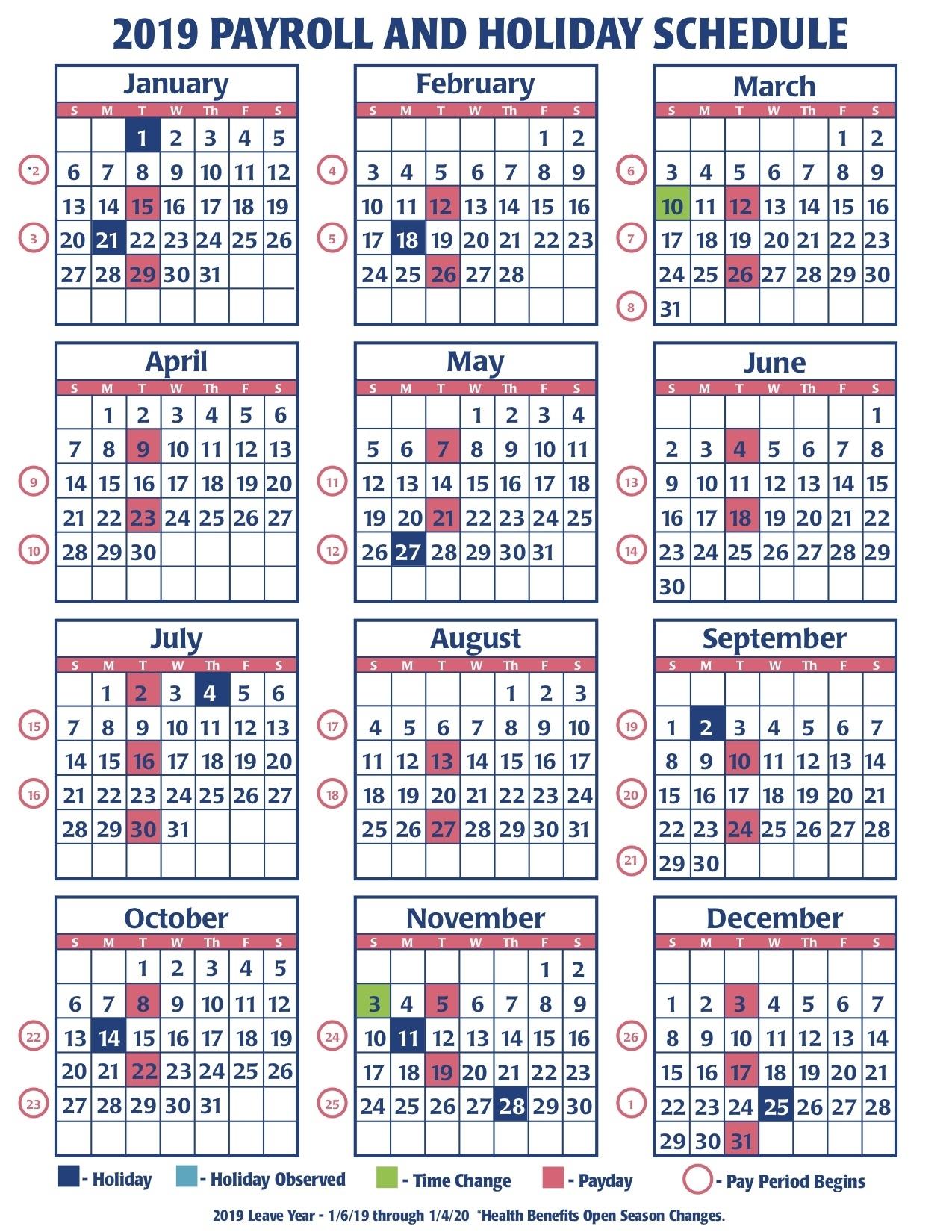 Payroll Calendar Federal Government | Payroll Calendar 2021
