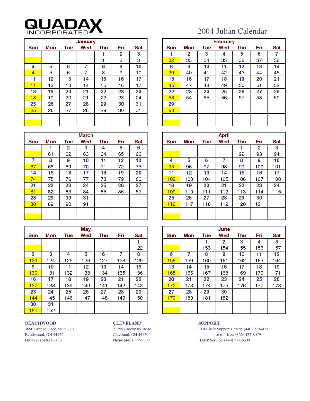 Perfect Quadax Julian Date Calendar 2021 | Get Your Calendar Printable