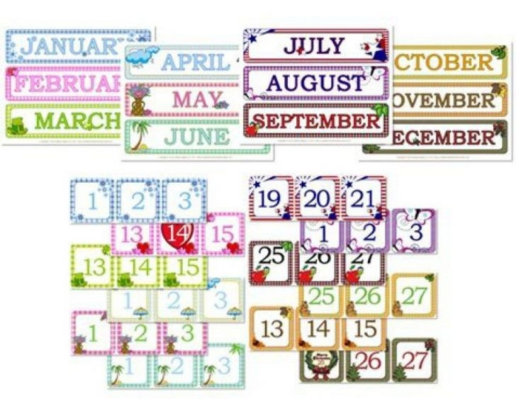 Preschool Printables Calendar Numbers | Preschool Calendar, Preschool Circle Time