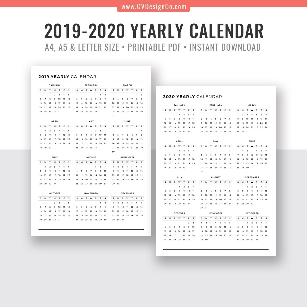 Printable Calendar 2019 2020 Monday To Sunday | Calendar Template Printable Monthly Yearly