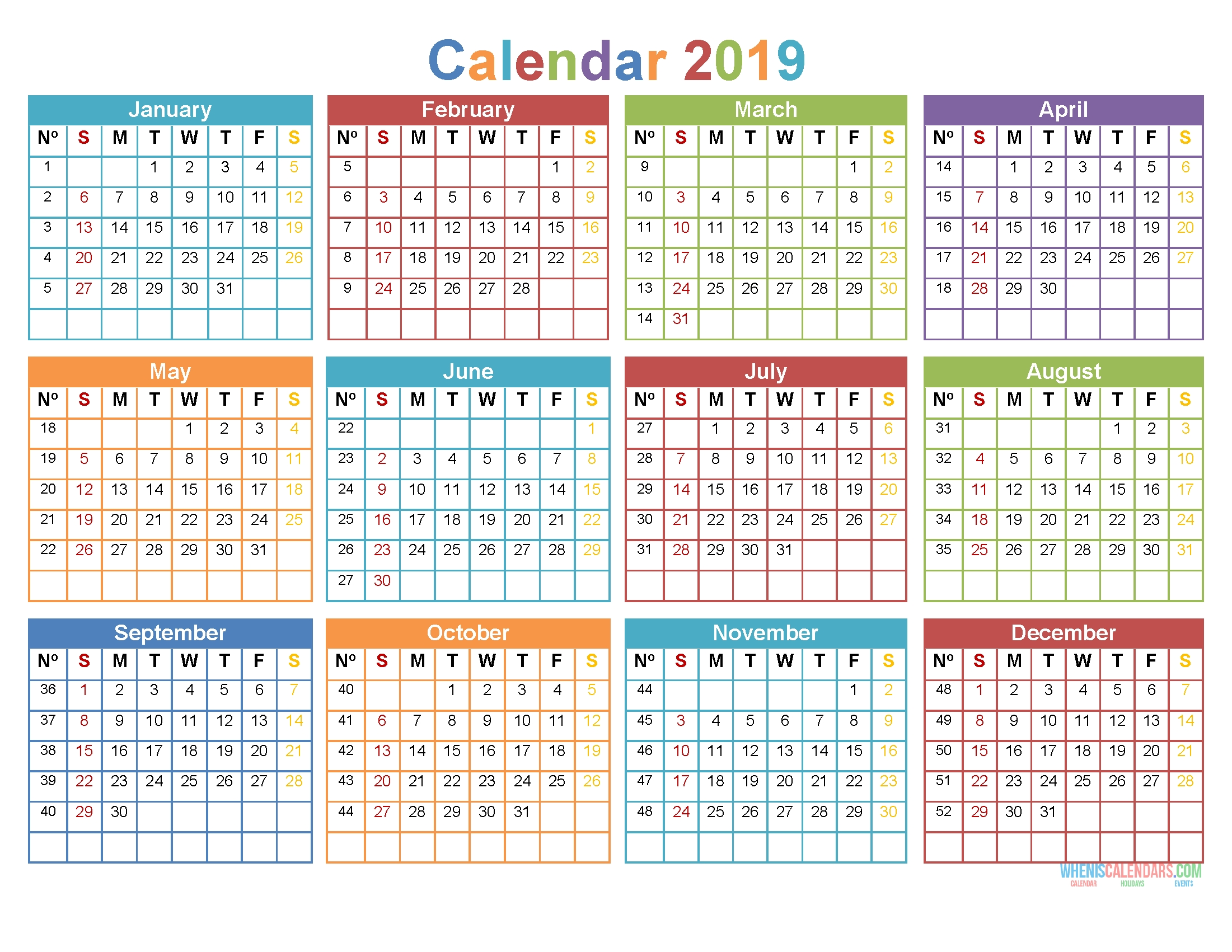 Printable Calendar - Page 10 - Free Printable 2020 Monthly Calendar With Holidays