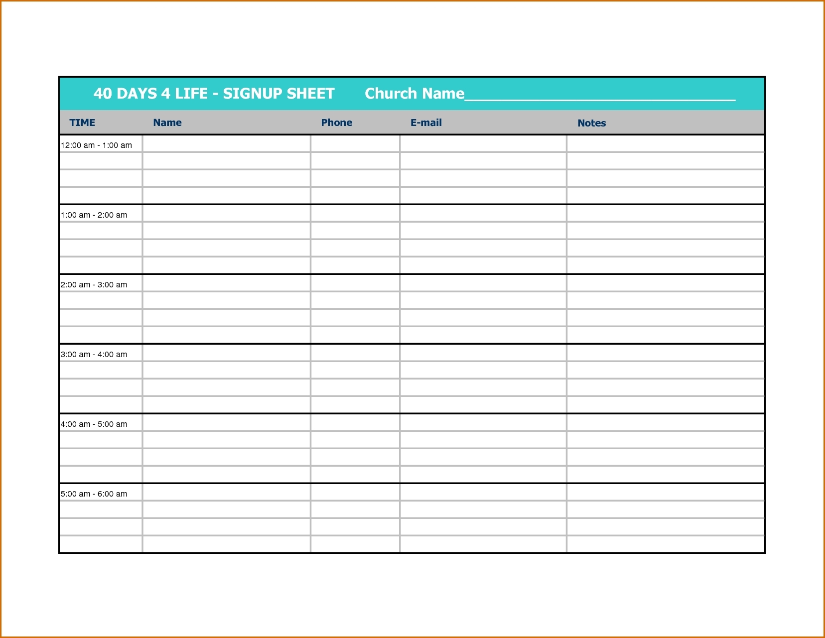 Printable Calendar Sign Up Sheet | Ten Free Printable Calendar 2020-2021