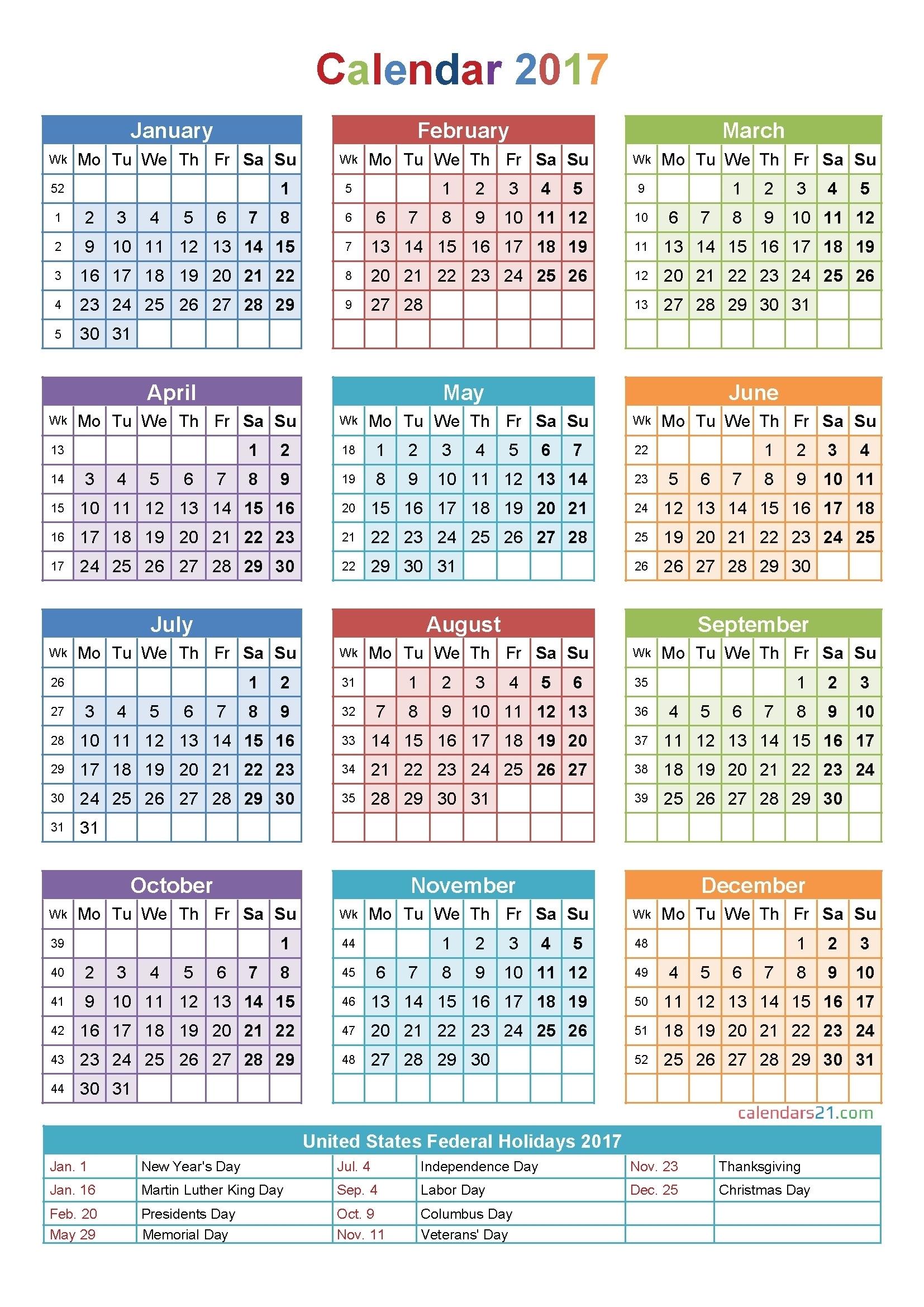 Printable Calendar With Week Numbers | Month Calendar Printable