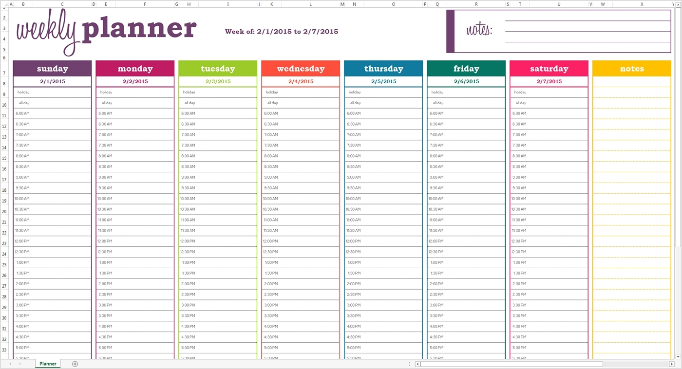 Printable Daily Calendar With Time Slots - Template Calendar Design