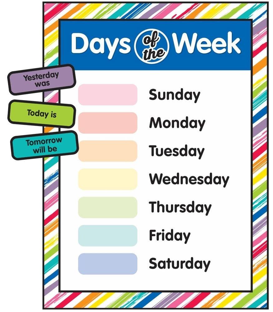 Printable Days Of The Week | Room Surf
