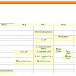 Weekly Calendar With Hourly Time Slots