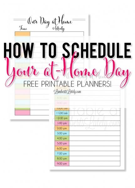 Printable Time Slot Day For Kids | Printable Calendar Template 2020