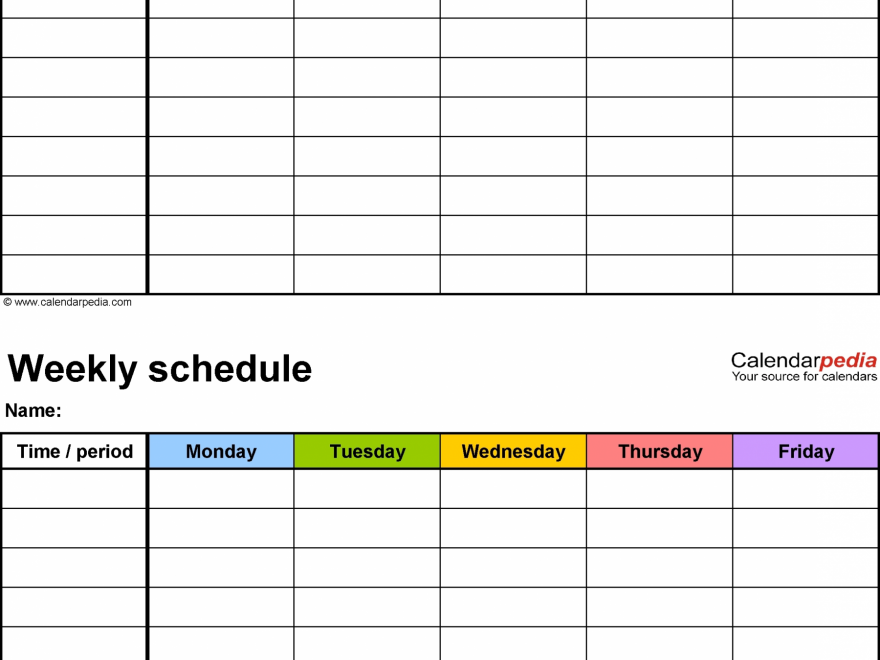 Printable Weekly Calendar With 15 Minute Time Slots | Calendar Template Printable