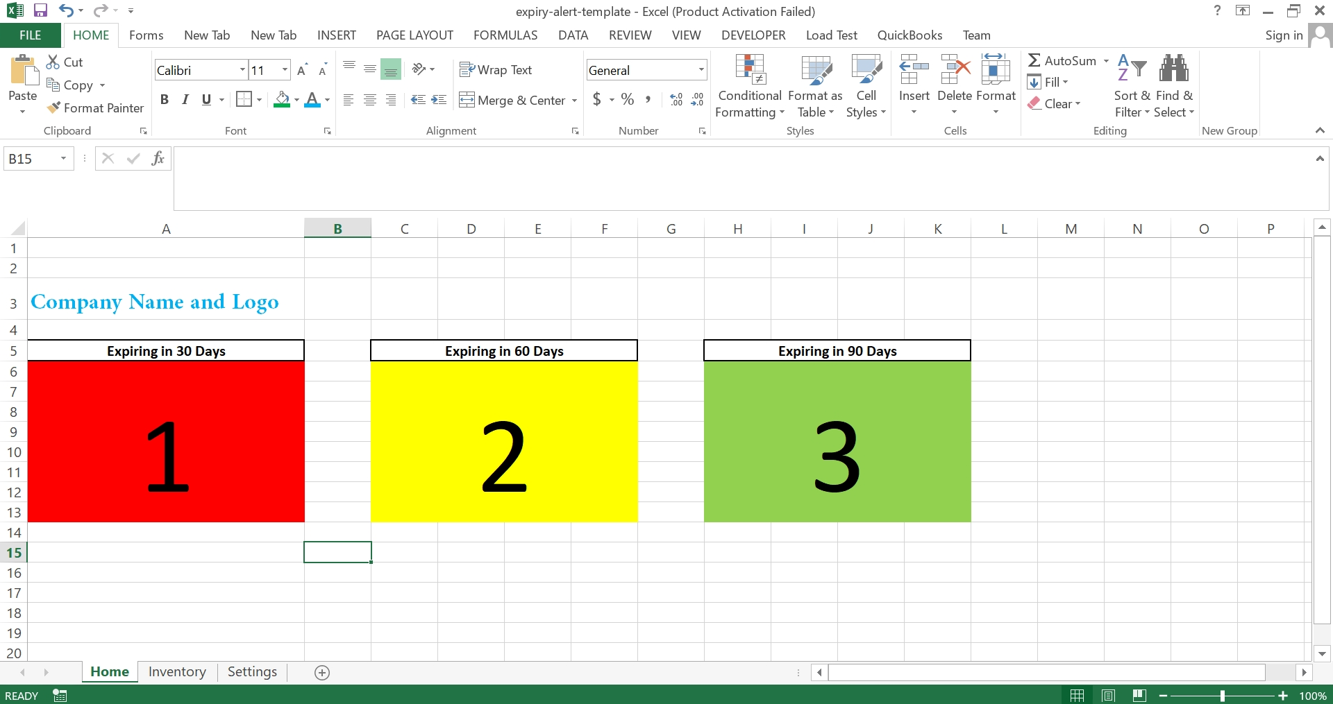 Product Expiry And Alert Excel Template :: Softwarehub Ng