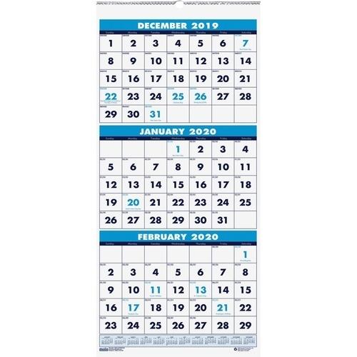Skilcraft 14-Month Wall Calendar - Julian Dates - Monthly - 1.2 Year - December 2019 Till