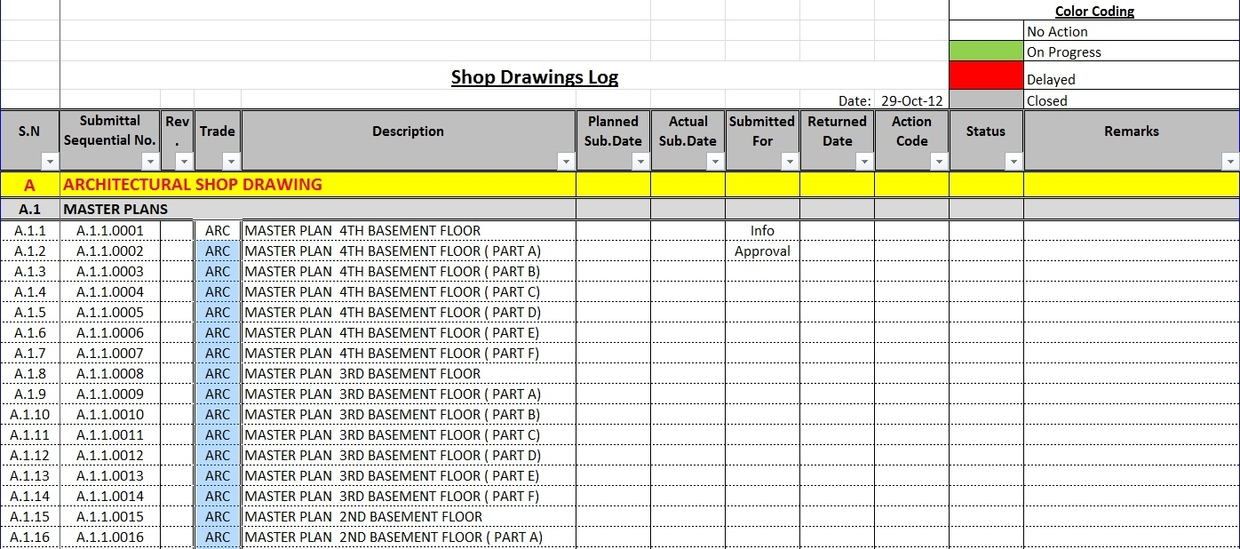 Submission Tracking Spreadsheet | Db-Excel