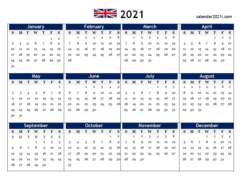 Uk 2021 Calendar Printable, Holidays, Word, Excel, Pdf, Floral | England | Calendar 2021