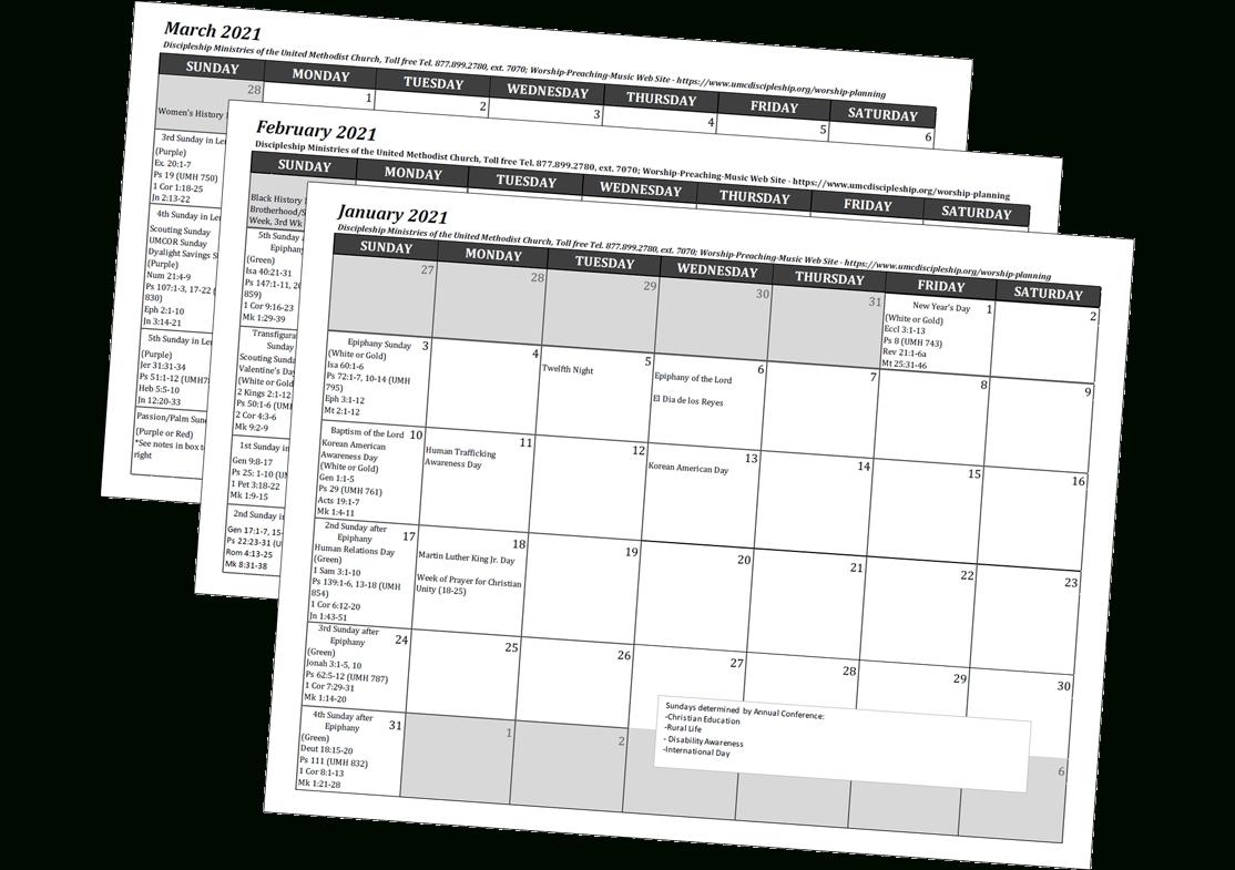 United Methodist Church Calendar 2021 - Florida Map