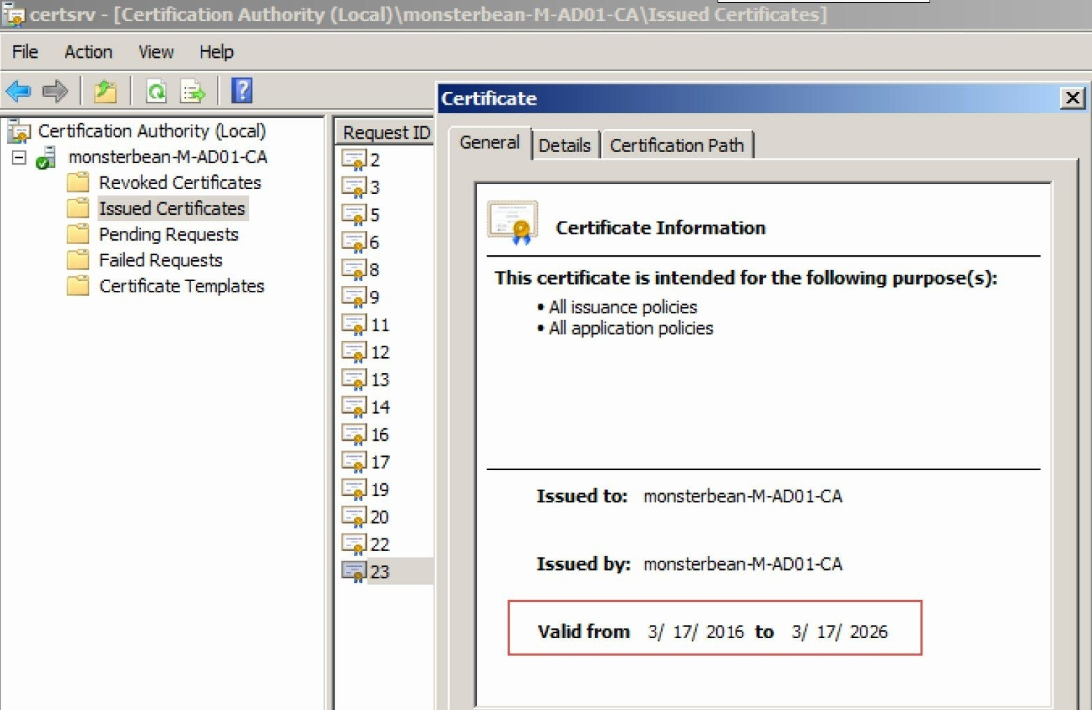 Web Server Certificate Template Fresh Extend Default Certificate Expire Date For Windows Ca In
