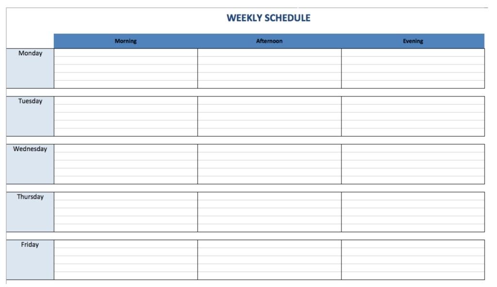 Weekly Schedule Maker - Task List Templates