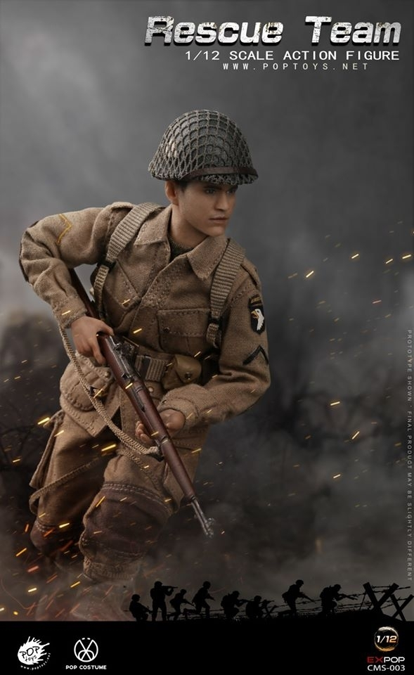 Wwii Rescue Squad: Paratrooper (1:12 Scale) | 1:12 Scale Military | Cms003