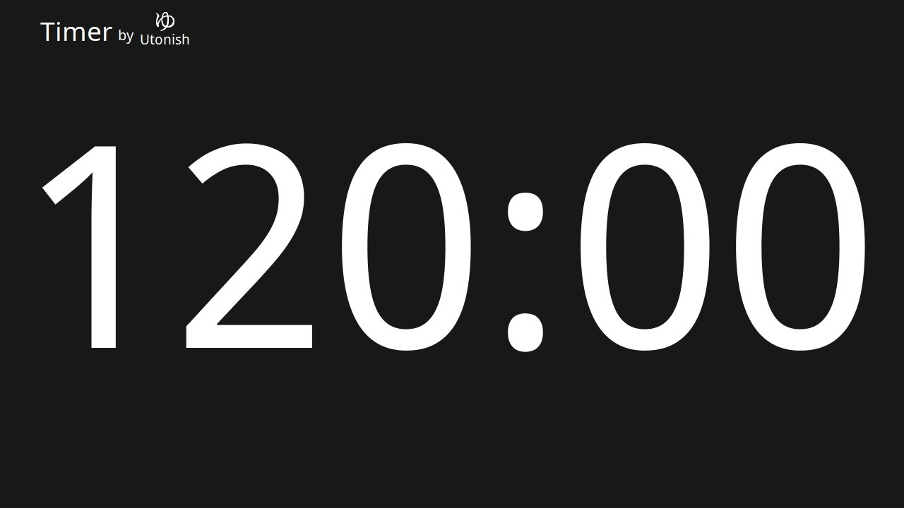 120 Minute Countdown Timer - Youtube