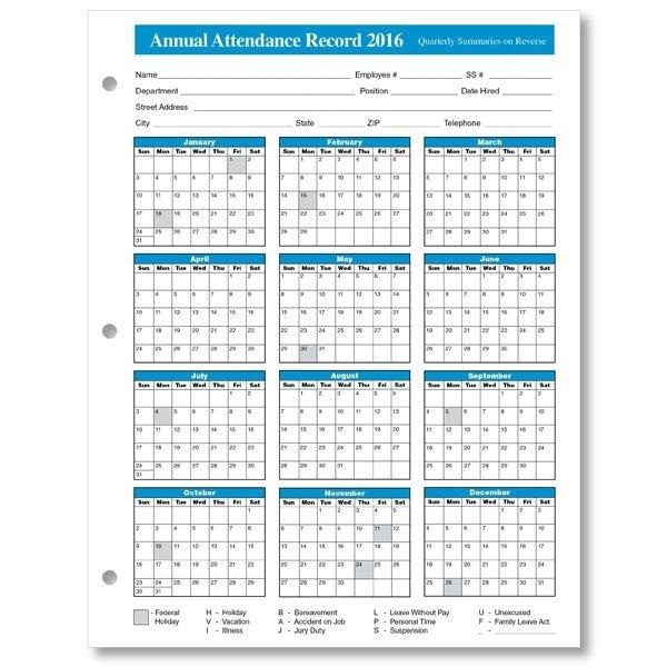 2016%2Bemployee%2Battendance%2Bcalendar%2B3 | Calendar Printables, Calendar Template, Attendance