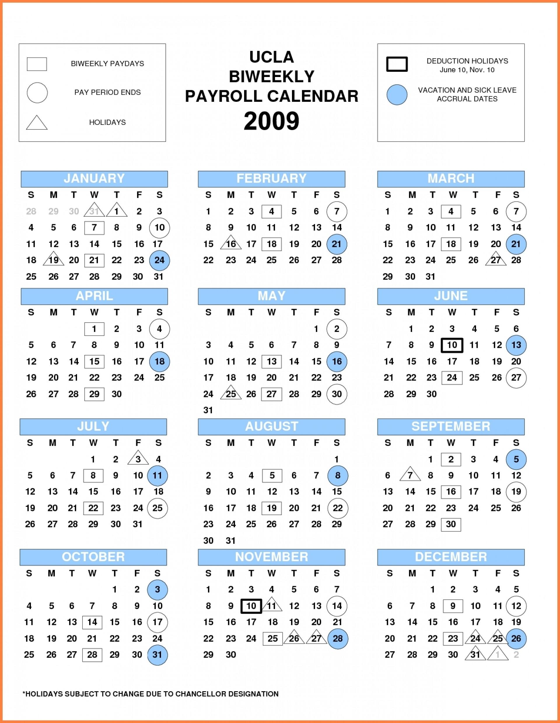 2020 Biweekly Payroll Calendar Template | Calendar Template Printable