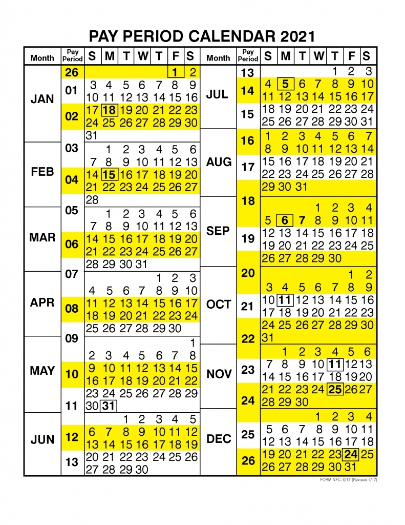2020 Postal Pay Periods - Template Calendar Design