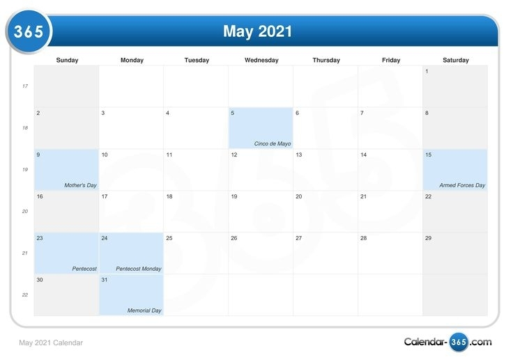 2021 Calendar With Holidays Printable 365 Days - Welcome In Order To My Personal Blog, In This