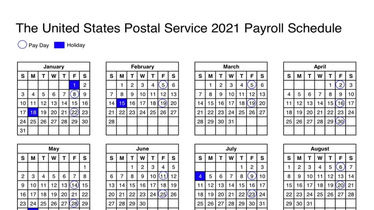 2021 Pay Period Calendar With Holidays / Government Pay Period Payroll Calendar 2021 Payroll
