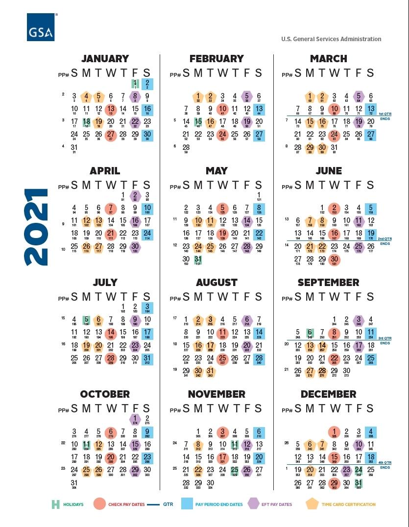 2021 Pay Periods Federal - Calendar Inspiration Design
