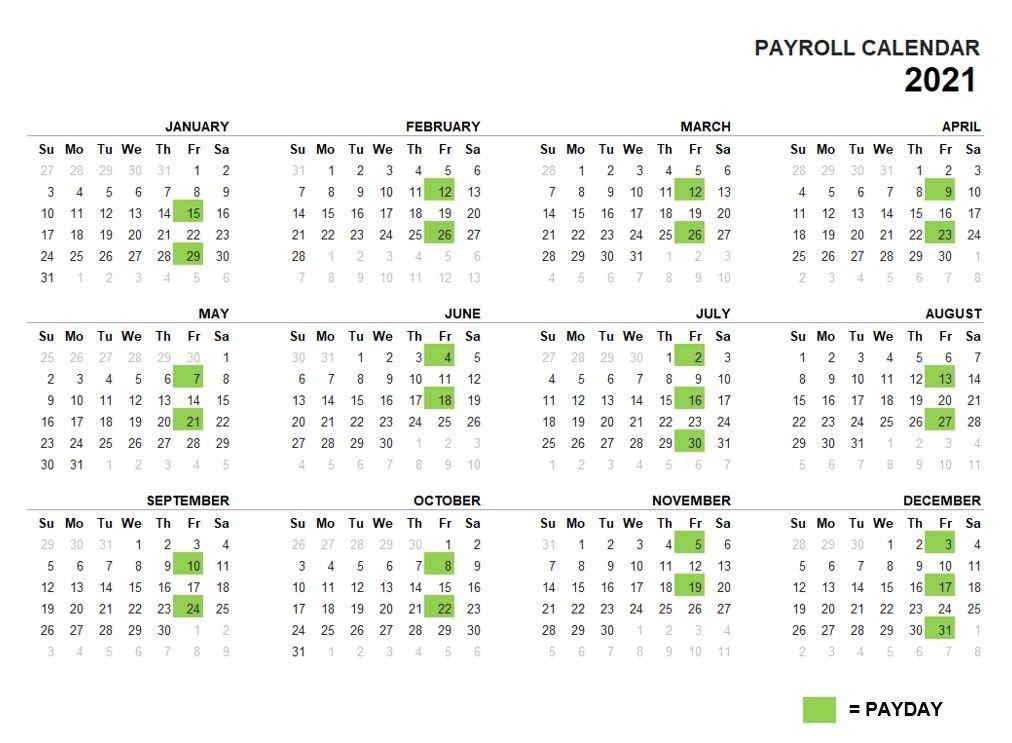 2021 Payroll Calendar   Right At School Wiki