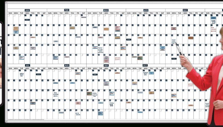 365-Day Magnetic Dry-Erase Calendar - Magnatag