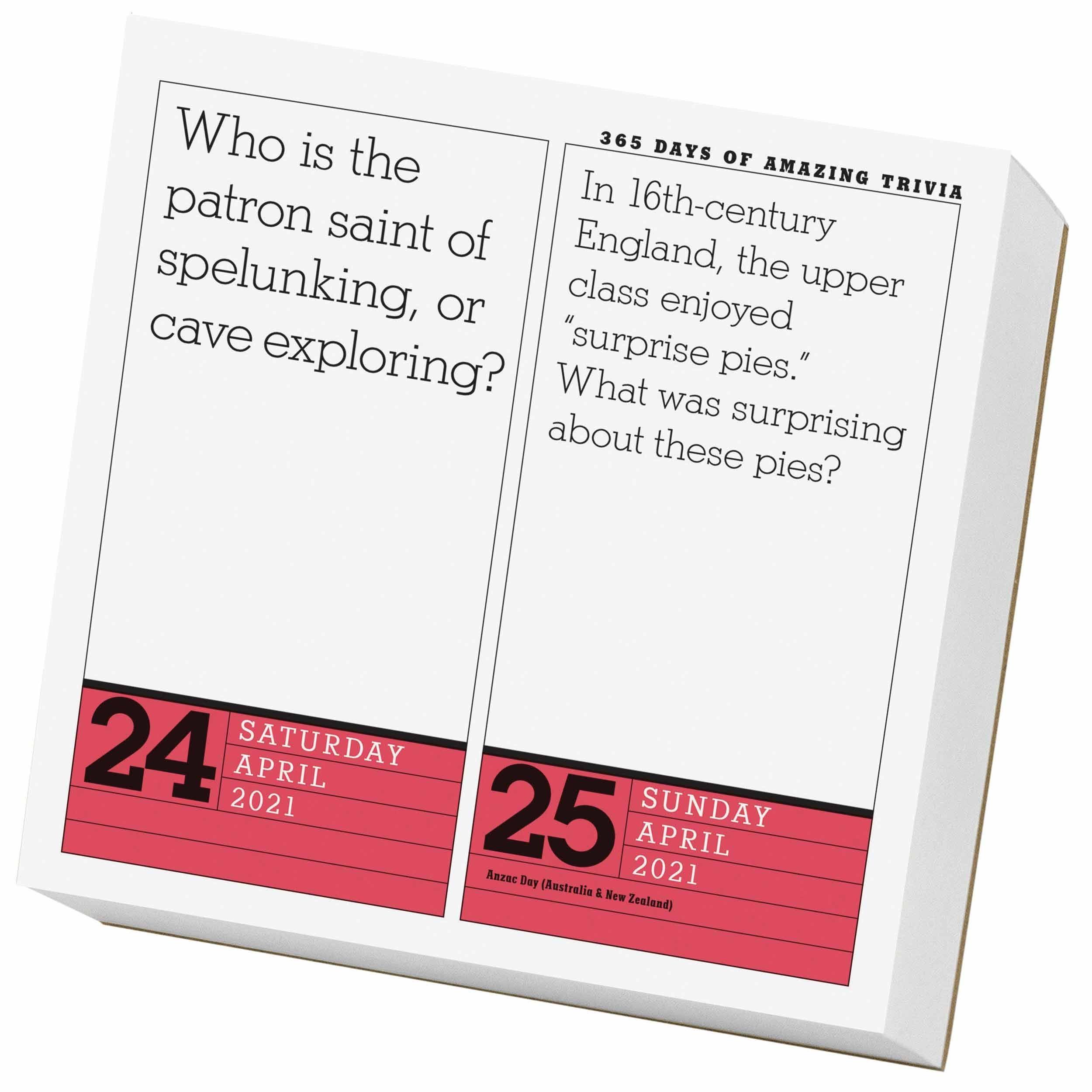 365 Days Of Amazing Trivia Desk Calendar 2021 At Calendar Club