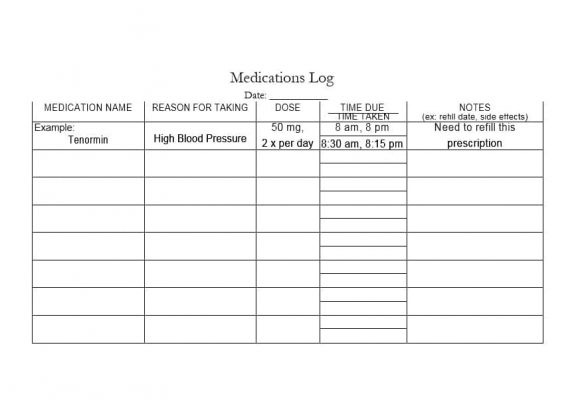 58 Medication List Templates For Any Patient [Word, Excel, Pdf]