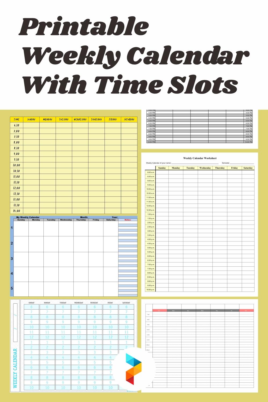 7 Best Printable Weekly Calendar With Time Slots - Printablee
