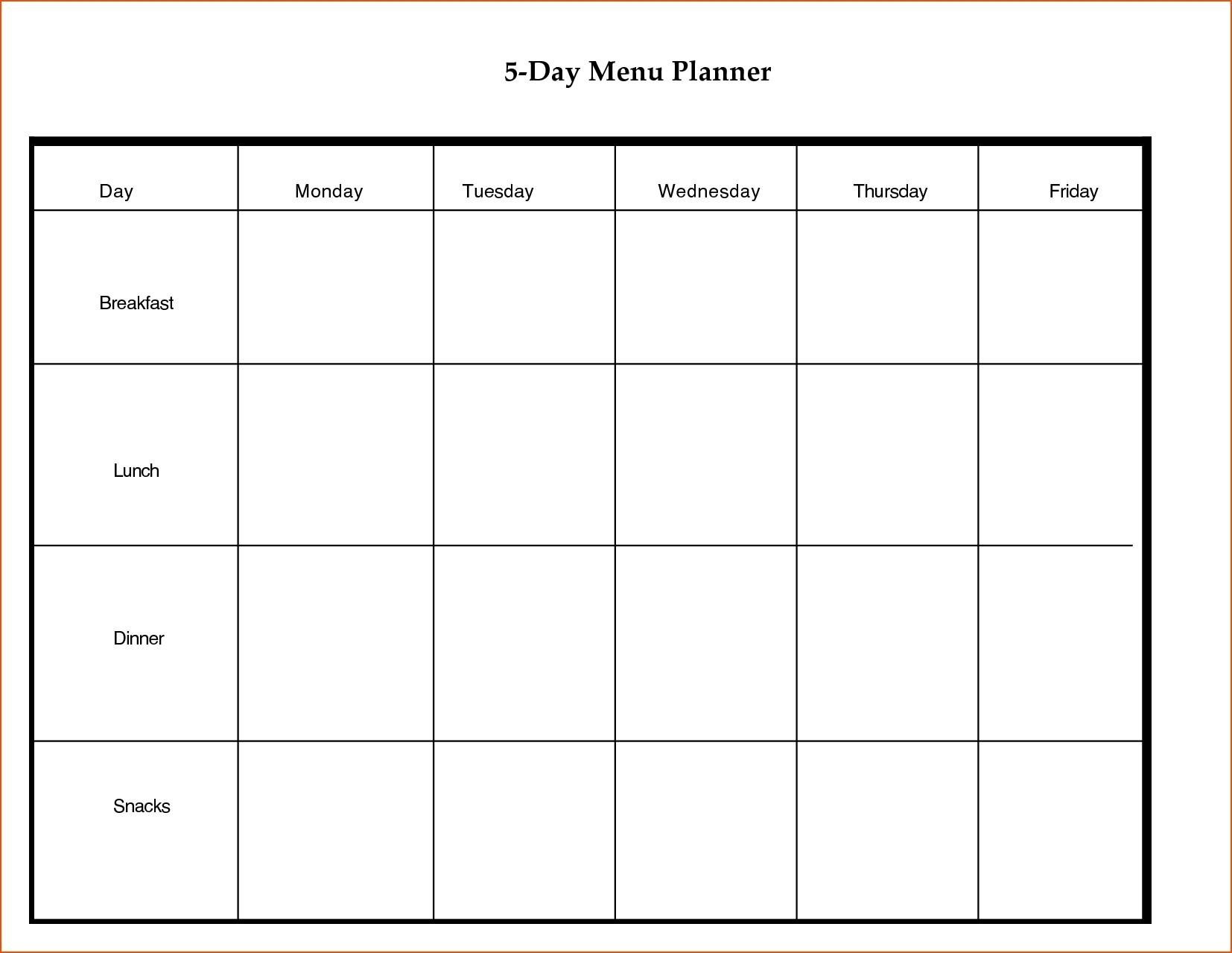 7 Day Weekly Planner Template Printable | Calendar Template Printable