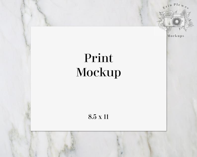 8.5X11 Print Mockup 8.5 X 11 Horizontal Poster Mockup On   Etsy