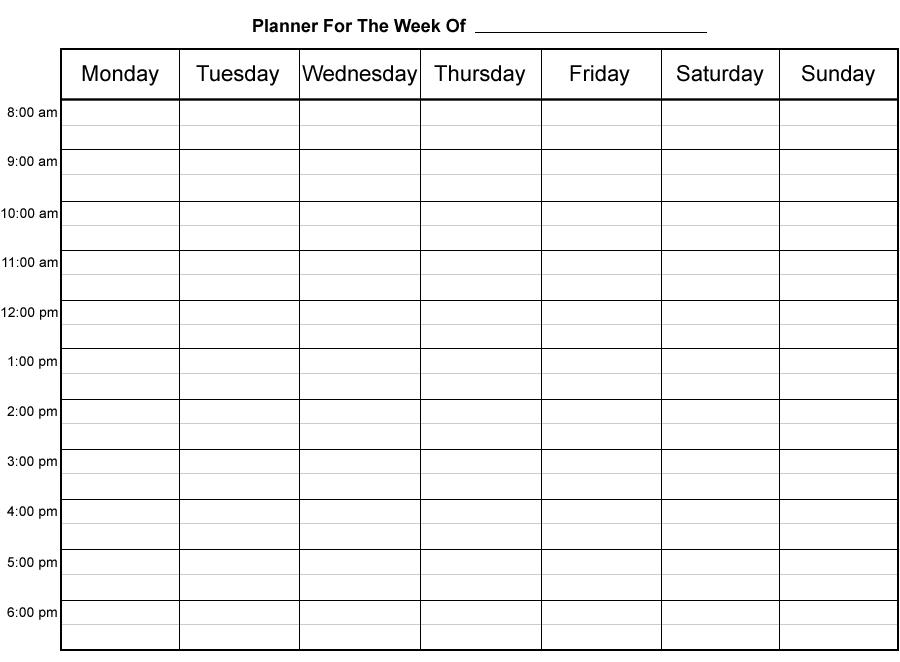 8 Best 2 Week Printable Calendar Weekly With Time - Printablee